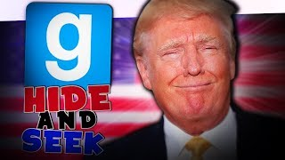 Ich bin der BESTE PRÄSIDENT! | Gmod Hide and Seek - (Trump Edition)