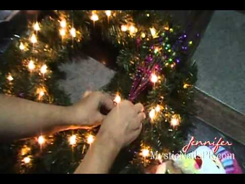 decoracin navidea corona para la puerta jennifer perez of mystic nails
