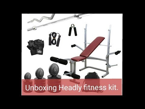 Unboxing headly 38 kg combo bb 8 convenient home gym kit youtube