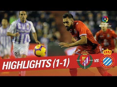Resumen de Real Valladolid vs RCD Espanyol (1-1)