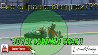 Moto GP Aragon 2018 Jorge Lorenzo Crash