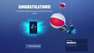New BEACHBALLS CONTRAIL in Fortnite! (14 Days of Summer FREE Reward)