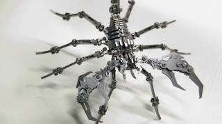DIY Металлический 3D Скорпион своими руками из 300 деталей / 3d Metal Diy Miniature Model Kits