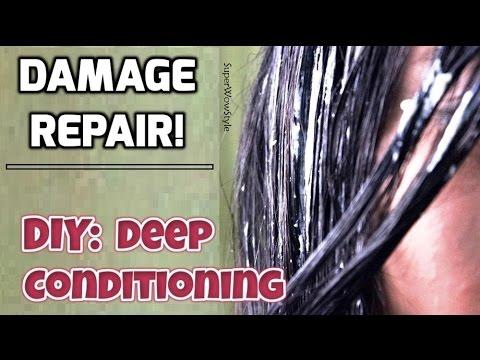 Damaged Hair Repair Treatment || DIY Deep Conditioning Hair Mask - SuperWowStyle
