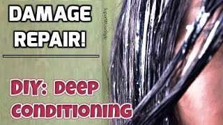 Damaged Hair Repair Treatment || DIY Deep Conditioning Hair Mask - SuperWowStyle