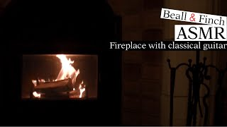 Relaxing classical guitar music with fireplace sounds for sleep, study, meditation, stress relief