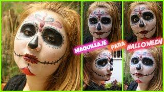 ¡MAQUILLAJE PARA DÍA DE LOS MUERTOS-HALLOWEEN! (FÁCIL) CATRINA TUTORIAL. Thumbnail