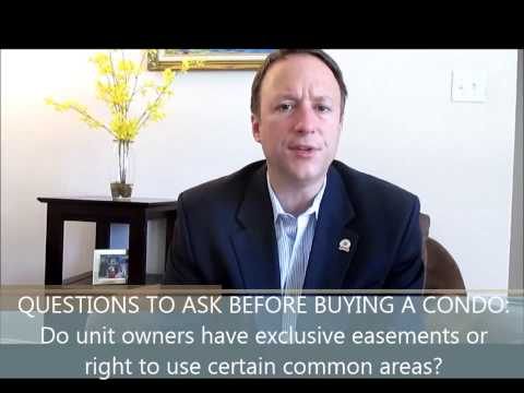 #9 Questions You Must Ask Before Buying a Condo: Do owners have exclusive easements?