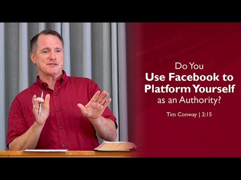 Do You Use Facebook to Platform Yourself as an Authority? - Tim Conway