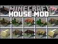 Minecraft INSTANT HOUSES MOD / SPAWN HUGE STRUCTURES WITH VILLAGERS HELP!! Minecraft mp3 indir
