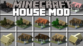 Minecraft INSTANT HOUSES MOD / SPAWN HUGE STRUCTURES WITH VILLAGERS HELP!! Minecraft