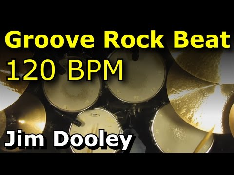 Groove Rock Drum Loop / Backing Track 120 BPM