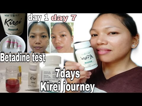 KIREI GLUTATHIONE 7 DAYS REVIEW || BETADINE TEST