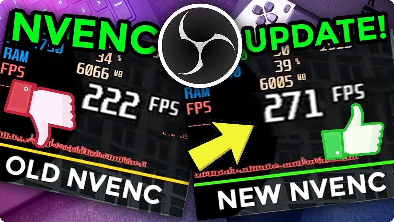 NVENC performance improvement test! OBS Studio beta version!