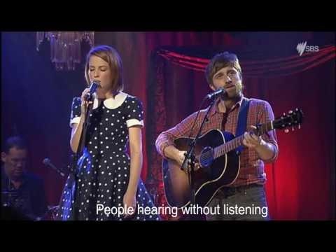 The Sound of Silence - Emma Louise & Husky Gawenda on RocKwiz, with Lyrics