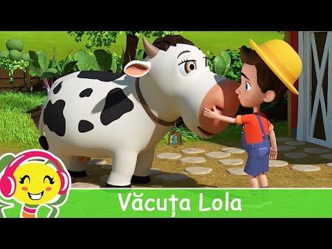 Cantec nou: Vacuta Lola + karaoke  Cantece pentru copii | CanteceGradinita