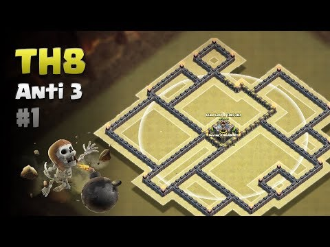 Town Hall (Th8) Base Clan Castle In Middle 🔥Its New Insanse 2018 Base