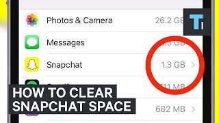 How to clear Snapchat space