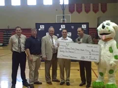 Windstream presents $25,000 to Johnson County Central Middle School in Cook, Nebraska