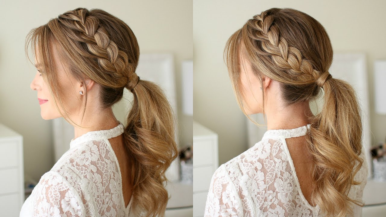 lace braid ponytail | missy sue