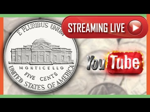 🔴 COIN ROLL HUNTING FOR RARE NICKELS WORTH MONEY!! LIVE STREAM!!