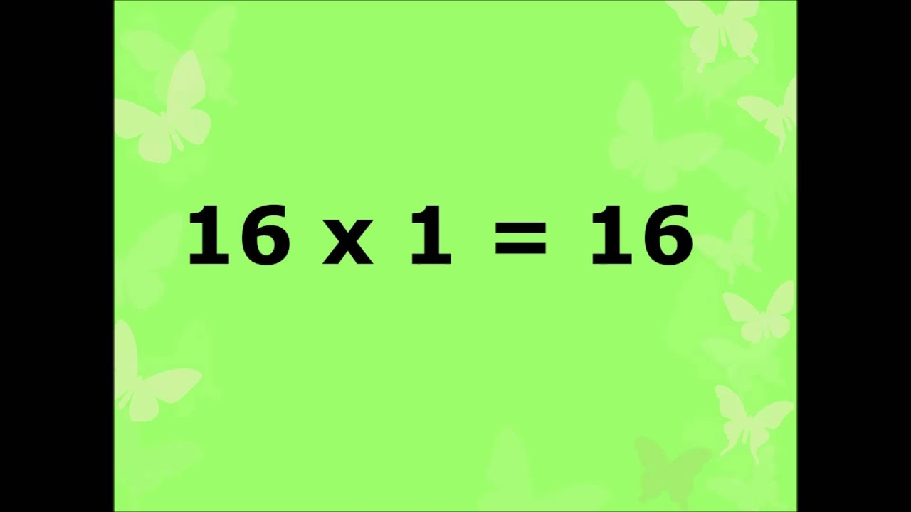 Multiplication table of number 16 or learn 16 table or 16 table in multiplication table of number 16 or learn 16 table or 16 table in easy way for kids gamestrikefo Choice Image
