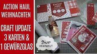 Action Haul Weihnachten & 3 Craft Update Karten