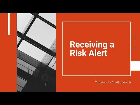 Receiving a Risk Alert