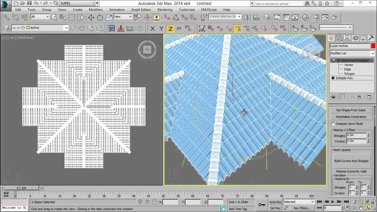 Tutorial 003 batzal roof designer para 3ds max hector for Home design 3d gratis italiano