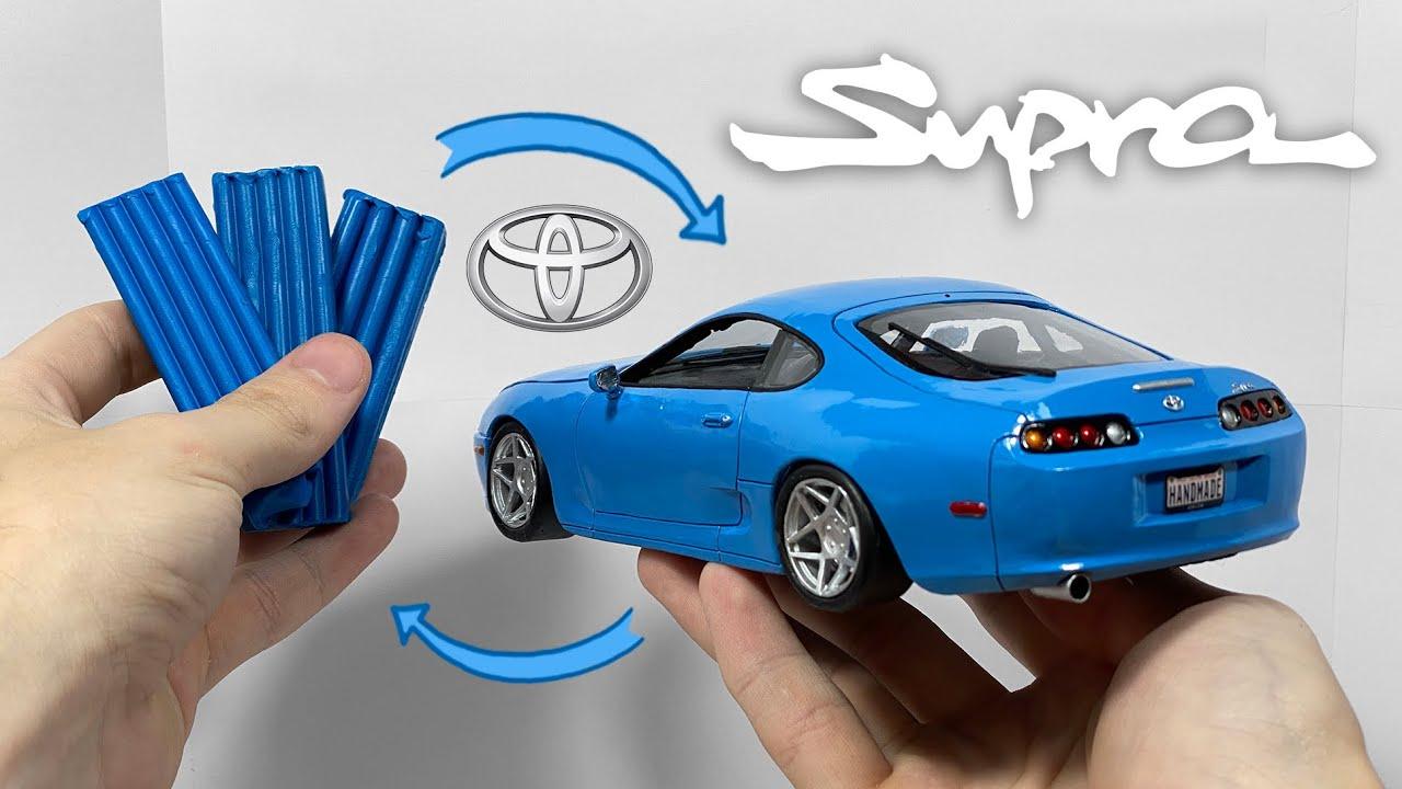 Превращение пластилина в машину, Toyota Supra, 100 часов работы за 15 минут
