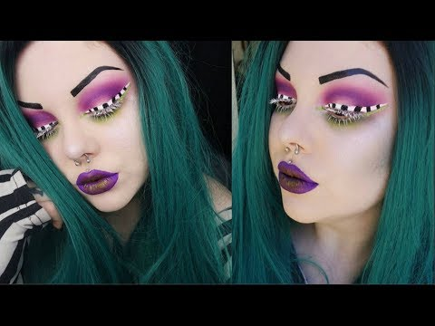 ♡ beetlejuice inspired glam halloween makeup tutorial ♡