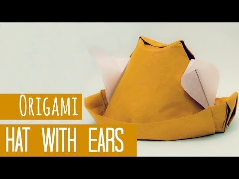 How To Make An Origami Hat With Ears Gerardo Gacharn Youtube