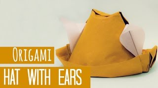 How To Make An Origami Hat With Ears (gerardo Gacharná)