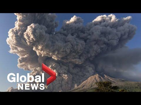 Indonesia's Mount Sinabung eruption blasts hot ash kilometres-high into sky