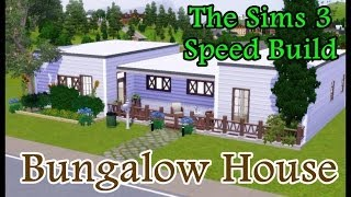 The Sims 3 - Speed Build ♥ Modern White Bungalow House