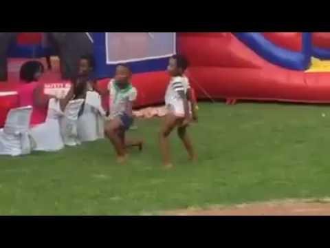 Little Kids Twerking in Public Park