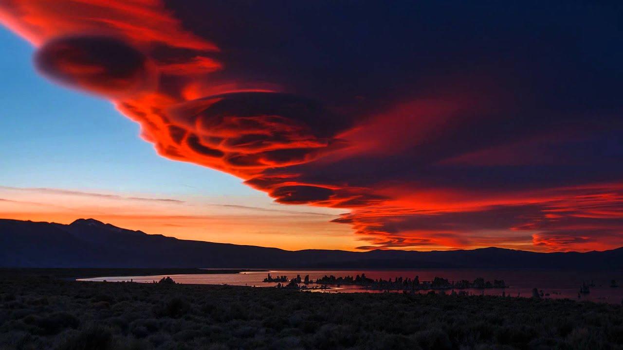 Mono Lake Lenticular Cloud Sunset 1080p Hd Youtube