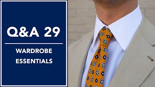 Q&A 28 - Wardrobe Essentials | Kirby Allison