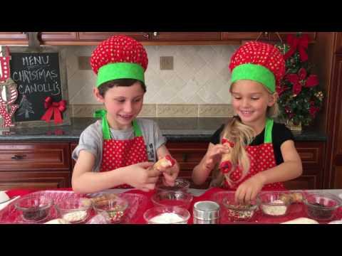 Christmas Cannoli's | Italian Dessert | Easy Kids Dessert Recipe