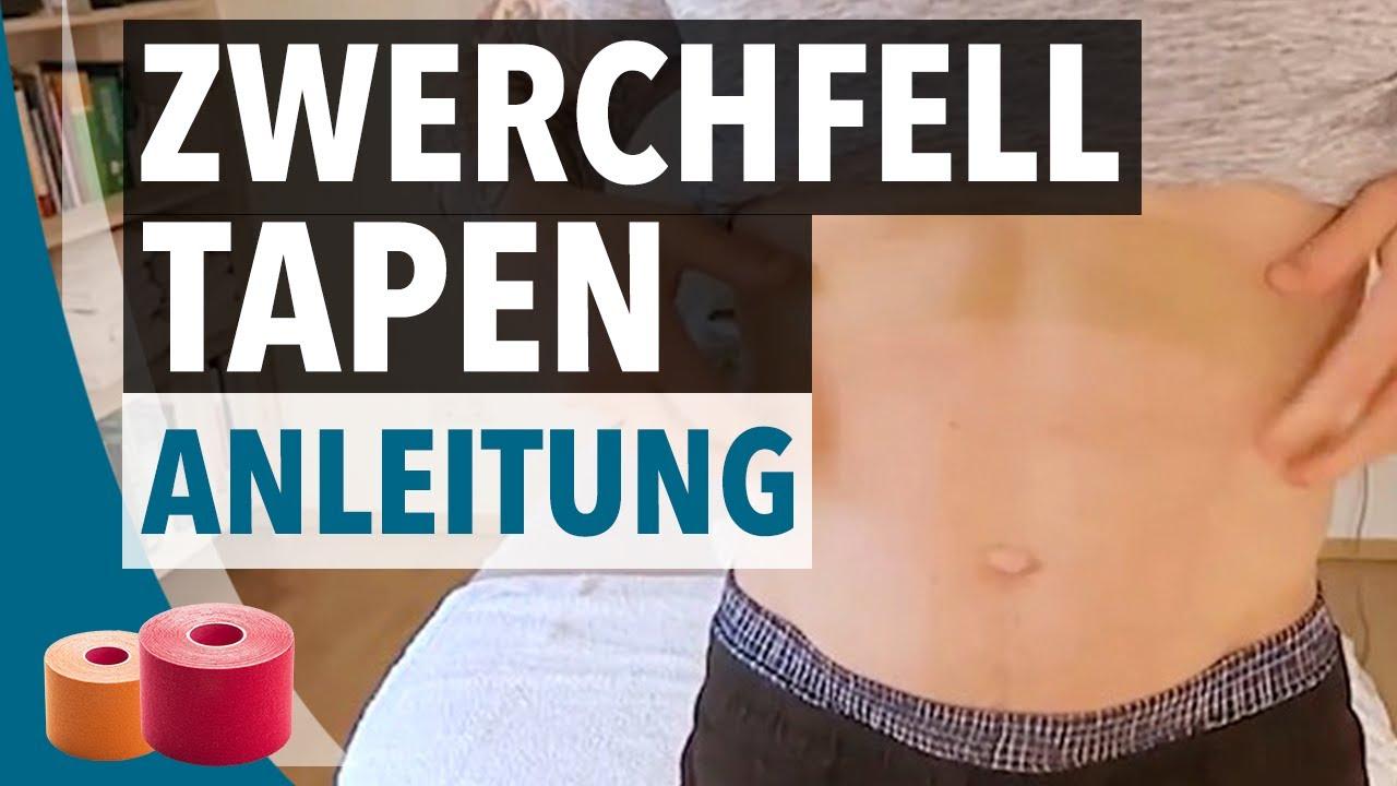 Zwerchfell Tapen Anleitung - Kinesiologie-Tape Anlage für Zwerchfell ...