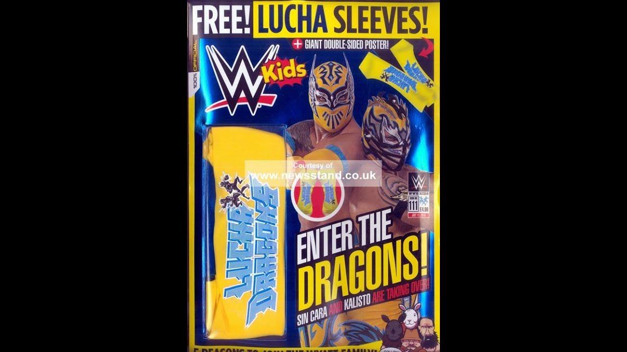 Wwe Kids Magazine 111 Free Lucha Dragon Sleeves Giant Poster