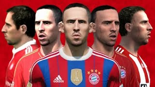 Ribery from FIFA 05 to 15 (Face Rotation and Stats)