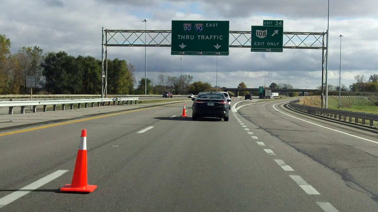 Ohio Turnpike (Exits 25 to 39) eastbound