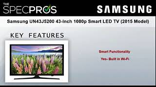 Samsung UN43J5200 43-Inch 1080p Smart LED TV (2015 Model) - B00WR294AQ