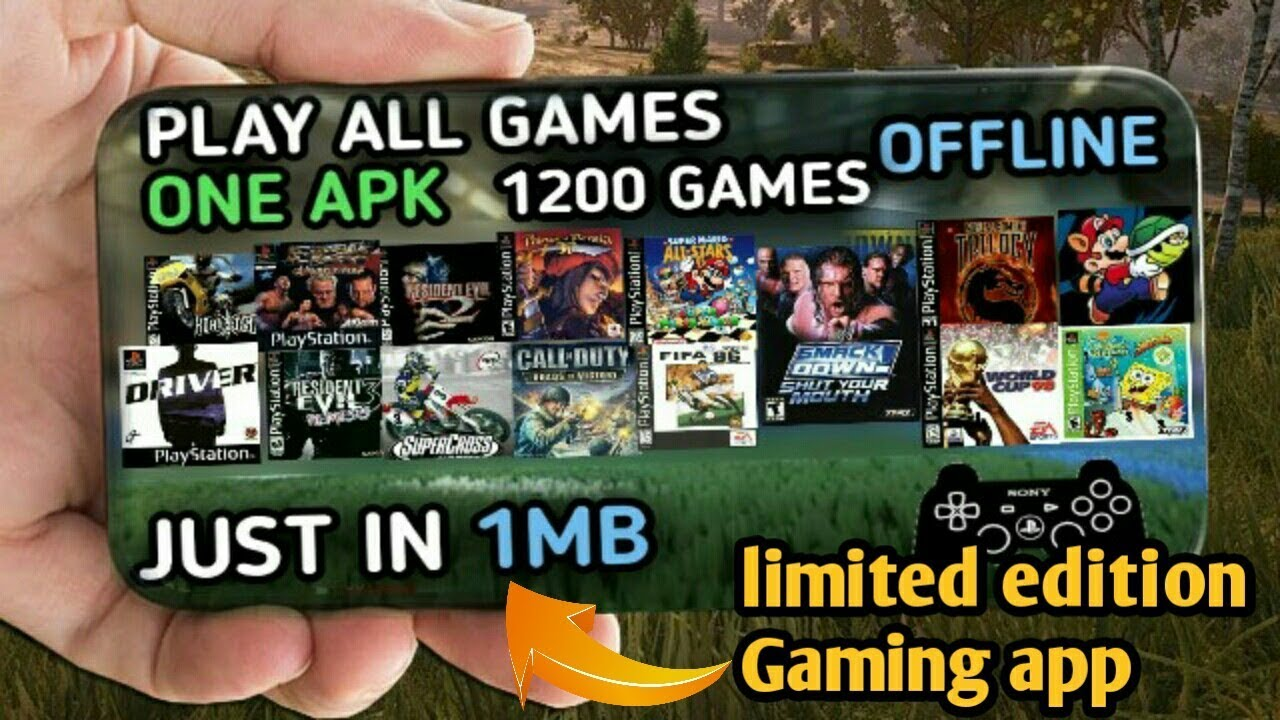 [1MB] Download 1200 games for Android || Play 1200 games in one apk just in  1MB ! must watch