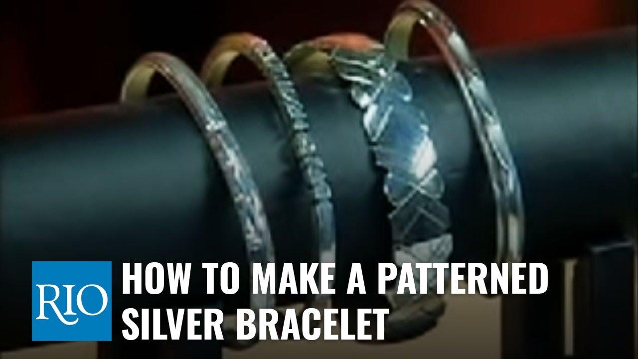 Boho Style Silver Patterned Bangle