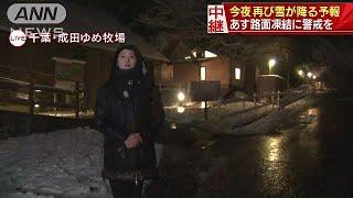 関東地方ではこの後、夜も雪が降る予報が出ています。千葉県成田市から...