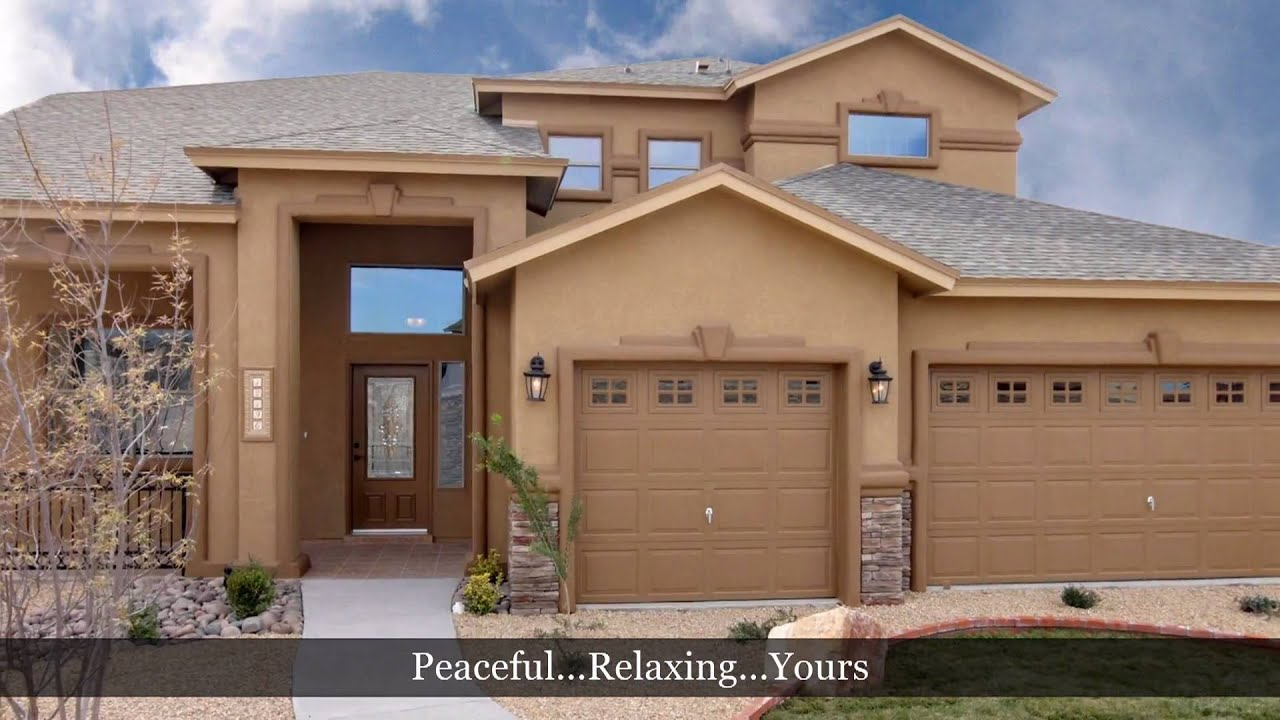 5 Bedroom Home  El Paso Tx Santiago Model by Carefree Homes New Builder YouTube