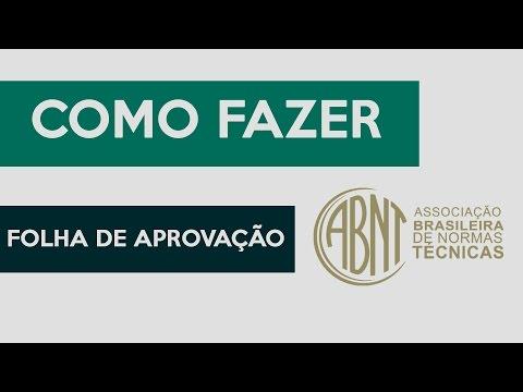 COMO FAZER FOLHA DE APROVAÇÃO TCC NORMAS ABNT