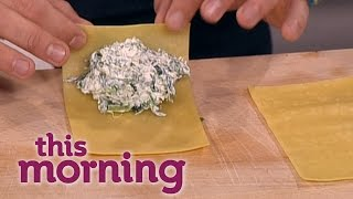 Gino D'Acampo Cooks Rocket, Spinach And Ricotta Cannelloni | This Morning